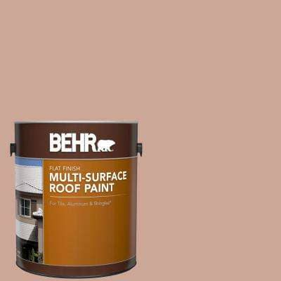 1 gal. #MS-03 Ocean Coral Flat Multi-Surface Exterior Roof Paint