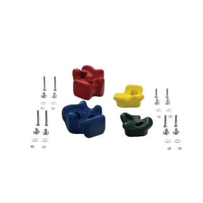 Climbing Rocks (4-Pack) Green, Yellow, Blue and Red