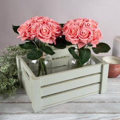 Artificial Coral Roses (Set of 18)