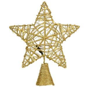 9 in. Cotton Star Tree Topper with 30 Dual Color (R) LED Lights