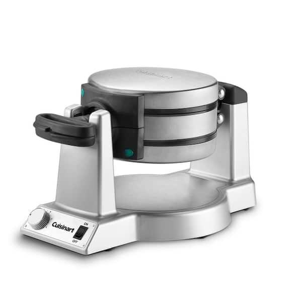 2-Waffle Stainless Steel Flip Belgian Waffle Maker