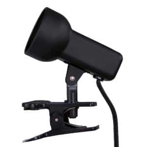 2-1/2 in. Black Portable Clip-On Lamp
