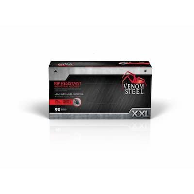 XX-Large Black Nitrile Heavy-Duty Gloves (90-Pack)