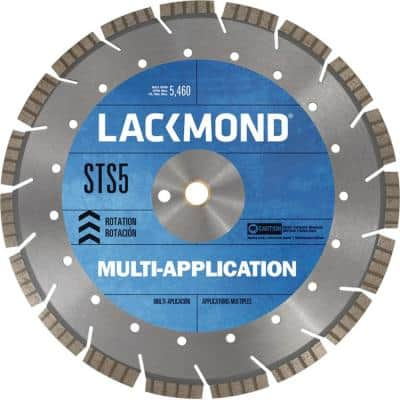26 in. x 0.165 x 1 in. Multi-Application STS5 Series Segmented Turbo Diamond Blade