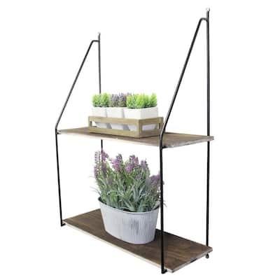 2-Tier Wooden Floating Shelves