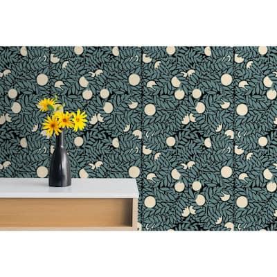 Orange Grove Fabric Peelable Wallpaper (Covers 36 sq. ft.)