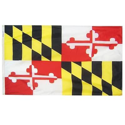 5 ft. x 8 ft. Nylon Maryland State Flag