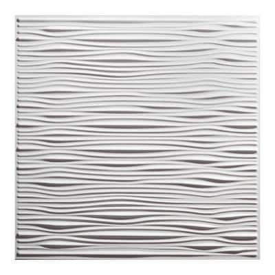 23.75in. x 23.75in. Drifts Lay In Vinyl White Ceiling Tile (Case of 12)