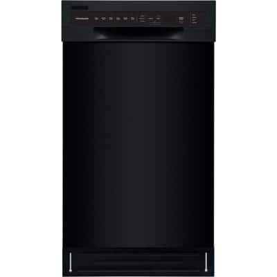 18 in. Black Front Control Built-In Tall Tub Dishwasher with Stainless Steel Tub, ENERGY STAR, 52 dBA