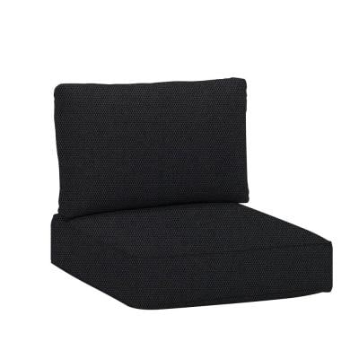 Commercial Grade 29.33 x29.33 x 5.12 in. Armless Middle Outdoor Patio Sectional Chair Cushion in Sunbrella Raven Black