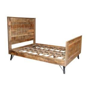 Shelly Natural Tones Queen Bed with Slat Headboard