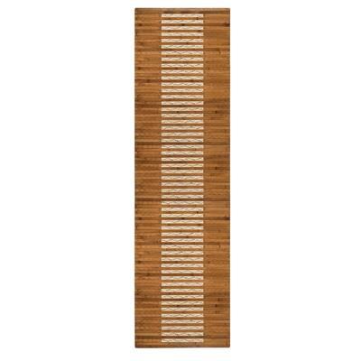 20 in. x 72in. Bamboo Walnut Kitchen and Bath Mat