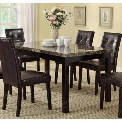 Marble Kitchen Dining Tables Kitchen Dining Room Furniture The Home Depot