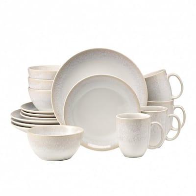 Alabaster 16-Piece Casual Beige Stoneware Dinnerware Set (Service for 4)