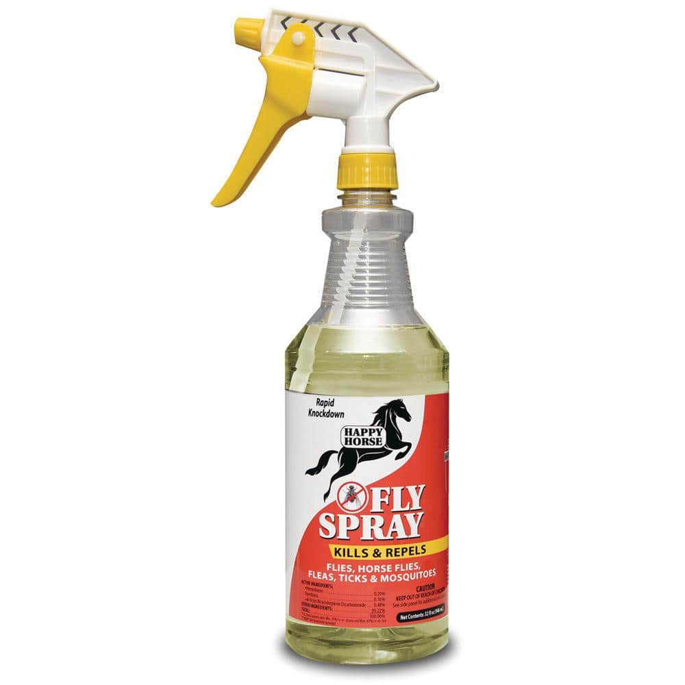 Harris 32 Oz 14 Day Fly Spray For Horses Hhappy 32 The Home Depot