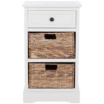 Carrie Distressed Cream Storage Side Table