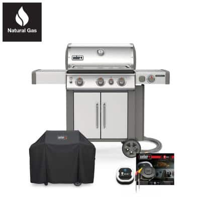 Genesis II S-335 Natural Gas Grill Combo with Cover and iGrill 3