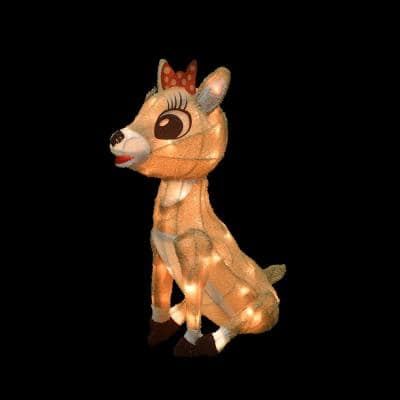 26 in. 3D Clarice Outdoor Lighted Christmas Decor