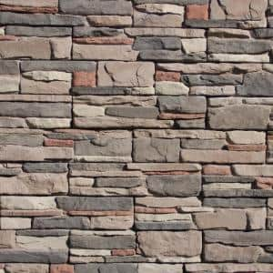 Easy Stack 5 in. x 20 in. Elk Creek No Mortar Concrete Ledge Stone Flat Panel 4.9 sq. ft. per box