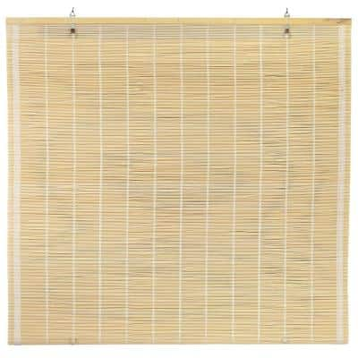 Oriental Furniture Matchstick Cordless Window Shade Natural 48 in. W x 72 in. L