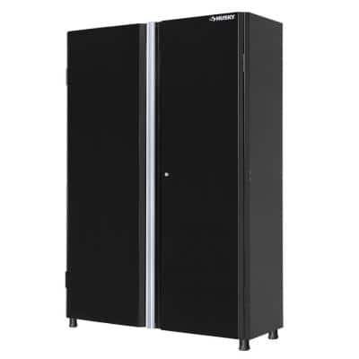 Ready-to-Assemble 24-Gauge Steel Freestanding Garage Cabinet in Black (48 in. W x 72 in. H x 18 in. D)