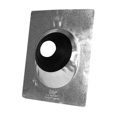 No-Calk 12 in. x 15-1/2 in. Aluminum Vent Pipe Roof Flashing with 3 in. - 4 in. Adjustable Diameter