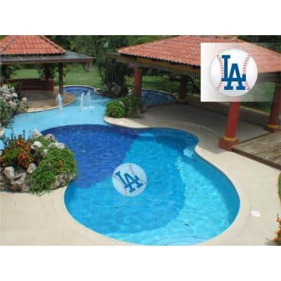 MLB Los Angeles Dodgers 59 in. x 59 in. Large Pool Graphic