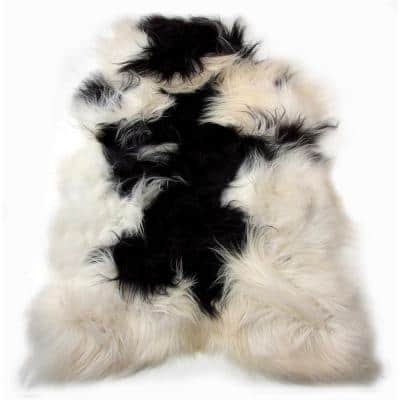 Josephine Spotted Multi-Colored 2 ft. x 3 ft. Specialty Sheepskin Area Rug