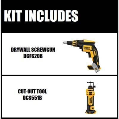 20-Volt MAX XR Cordless Brushless Drywall Screw Gun with Cut-Out Tool