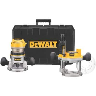 2-1/4 HP Electronic Variable Speed Fixed Base and Plunge Router Combo Kit with Soft Start