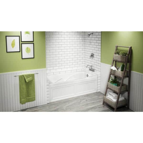Jacuzzi Cetra 60 In X 36 In Acrylic Right Drain Rectangular Alcove Soaking Bathtub In White Cts6036brxxxxw The Home Depot