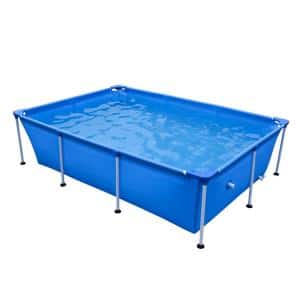 8.5 ft. x 6 ft. Rectangle 26 in. Metal Frame Pool