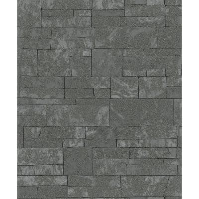 Hernando Charcoal Stones Strippable Sample Covers 0.56 sq. ft.