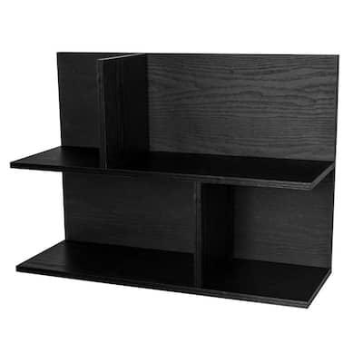 8.47 in. x 23.46 in. x 8.47 in. Black Wood Infiniti Modular Shelf (2-Pack)
