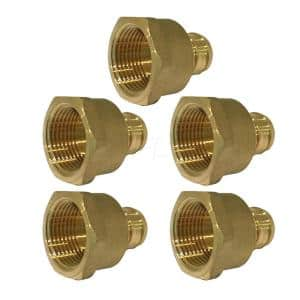 1 in. x 1 in. Brass PEX Barb x Female Pipe Thread Adapter Fitting (5-Pack)