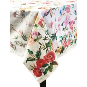 Coventry 60 in. x 102 in. Multi Cotton and Polyester Tablecloth