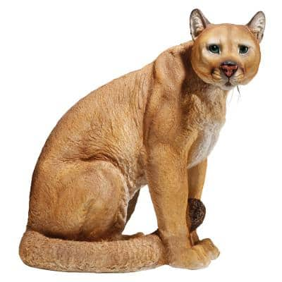 15.5 in. H American Mountain Cougar Statue