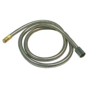 Chrome Hose Only With O-Rings For Pullout Kitchen Faucets 1 Each 5/8'' O-Ring And 3/8'' O-Ring Length Of Hose Is 5 Feet Or