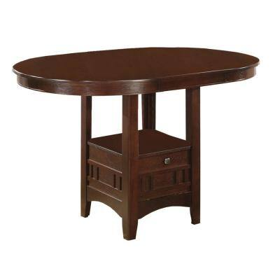 Brown Counter Height Dining Table