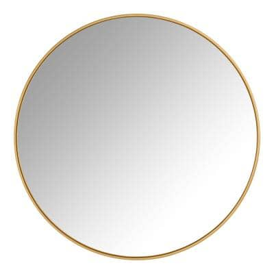 Large Round Gold Classic Accent Mirror (30 in. Diameter)