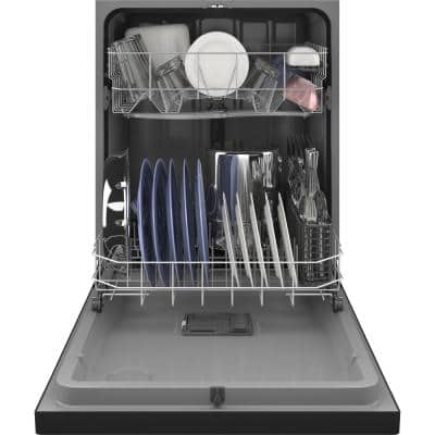 24 in. Black Front Control Tall Tub Dishwasher with Steam Cleaning, Dry Boost and 55 dBA
