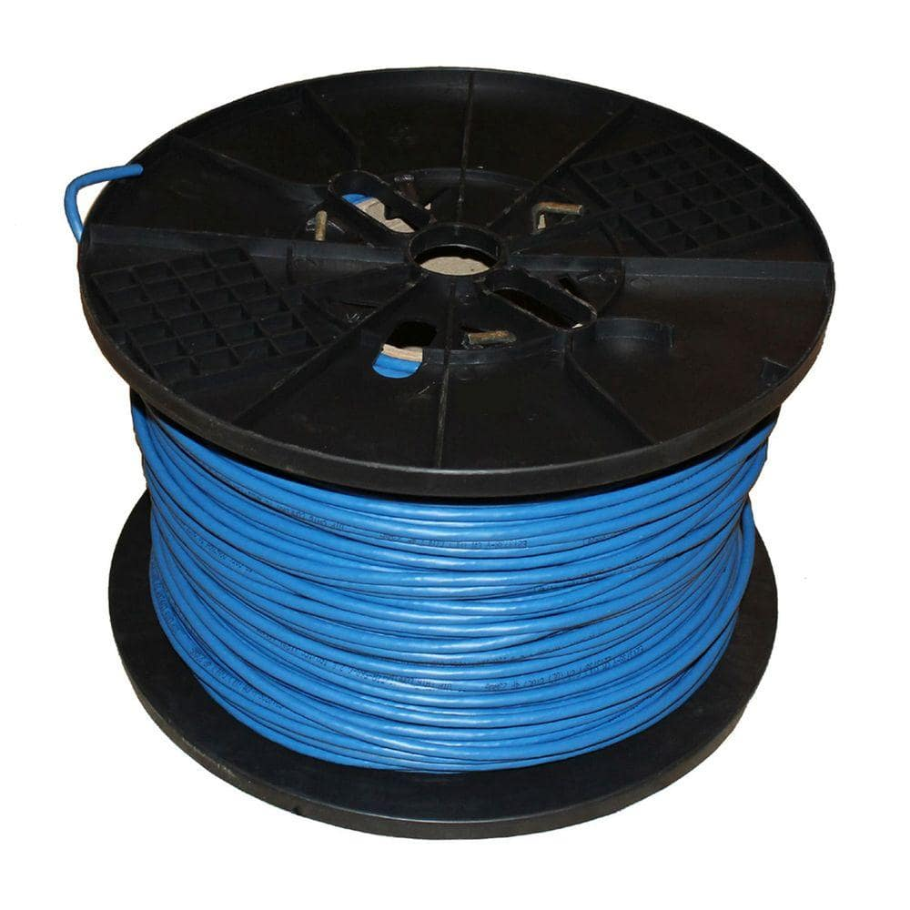Tygerwire Category 5 1000 Ft Blue 24 4 Unshielded Twist Pair Cable With Ft6 Rated Cat5611000b The Home Depot
