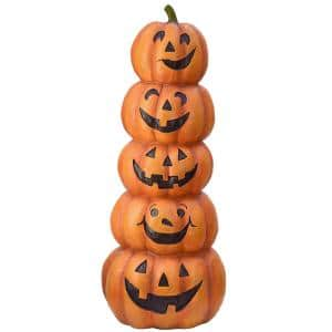 51 in. Stacked Happy Jack-O-Lanterns