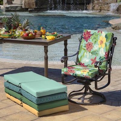 20 x 44 Elea Tropical High Back Outdoor Dining Chair Cushion