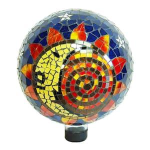 10 in. Mosaic Glass Gazing Ball, Sun-Moon