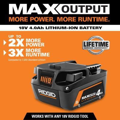 18V Lithium-Ion MAX Output 4.0 Ah Battery (2-Pack)