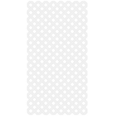 1 ft. x 4 ft. White Diamond 1 in. Vinyl Lattice (6) Privacy Unframed
