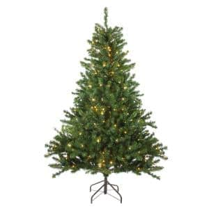 5 ft. Pre-Lit Canadian Pine Artificial Christmas Tree with Candlelight LED Lights