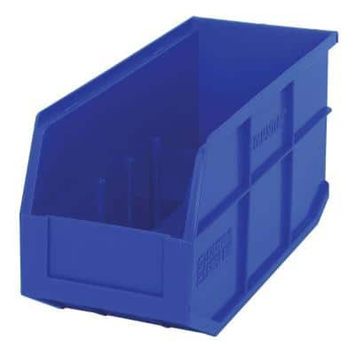 Stackable Shelf 10-Qt. Storage Tote in Blue (6-Pack)