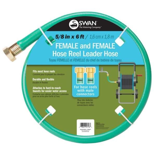 Swan 5 8 In Dia X 6 Ft Leader Hose, Garden Hose To Pvc Adapter Home Depot